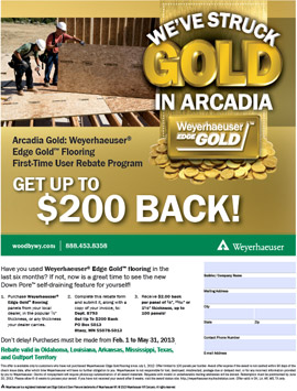 Arcadia Edge Gold Rebate